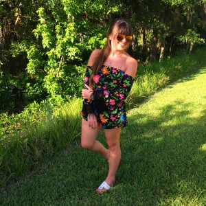 Sunglasses- Ray-bans Romper- Original Piece Boutique Shoes- Jack Rogers