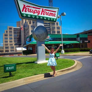 Krispy Kreme Kraving! Dress: Dayton K. Shoes: Palm Beach Sandals
