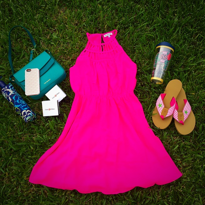 Dress: Original Piece Accessories: Vera Bradley, Cate and Chloe, Tervis, & Eliza B. Sandals