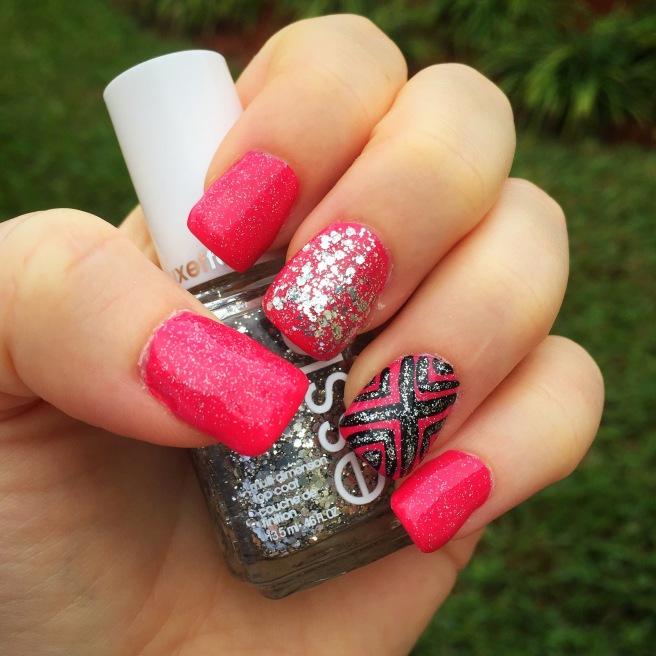 Barbie Tribal Nails I did myself!!