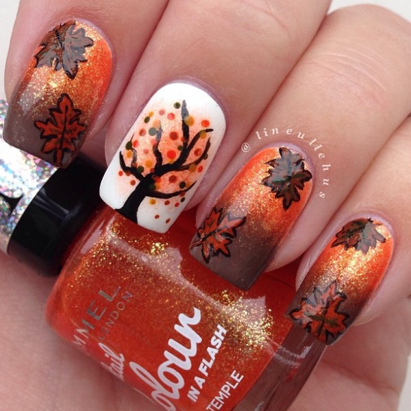 Love Or Leave This Fall Nail Art