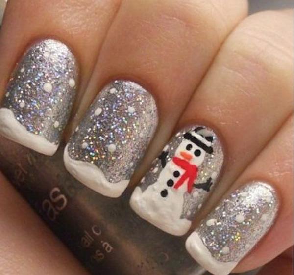 christmas-nails-art-silver-sparkle